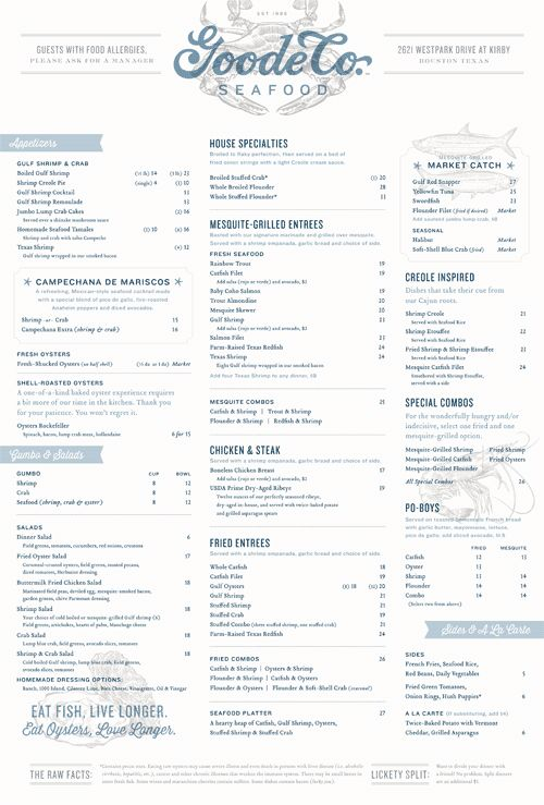 Art of the Menu: Goode Co. Seafood