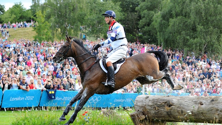 William Fox-Pitt of Great Britain riding Lionheart negotiates a jump in the Individual Eventing Cross Country event on Day 3 of the London 2012 Olympic Games at Greenwich Park.