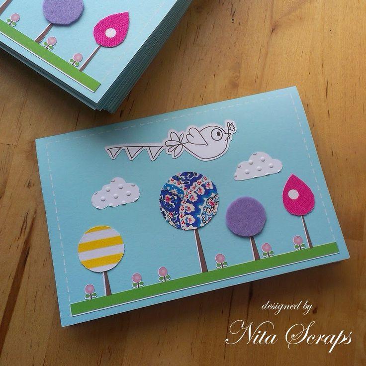 Nita Scraps: Aniversário da Sofia - Postal de Agradecimento http://nita-scraps.blogspot.pt/