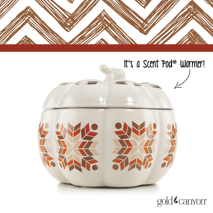 ~Folk Pumpkin~ Cute cut-outs on the lid and a folk design to revamp the chic white pumpkin.