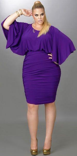 Purple bat wing dress