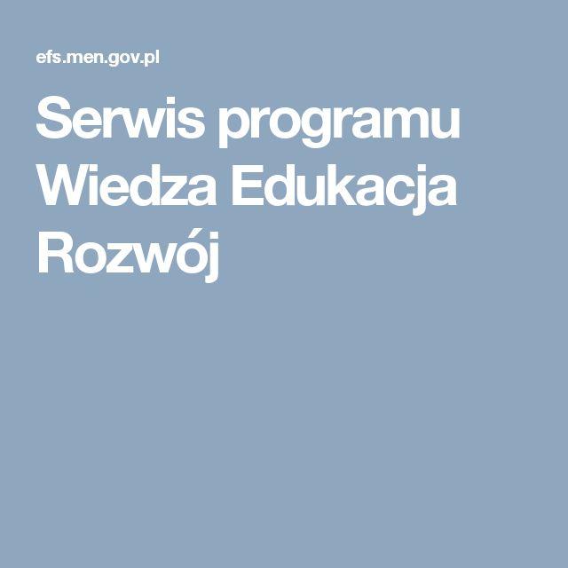 Serwis programu Wiedza Edukacja Rozwój