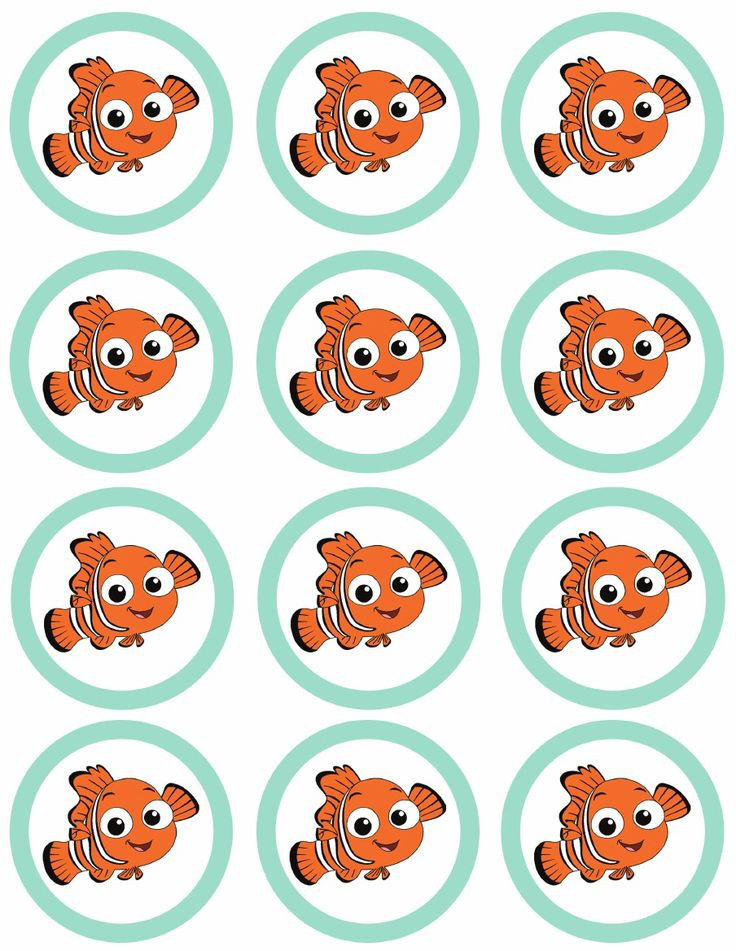 Finding nemo party free printables fish party for Nemo cake template
