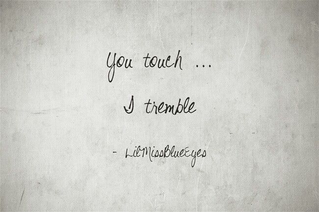 Ohhhhhh YES!!! Your touch is absolute magic and soooo sensual & sexy!! <3  <3