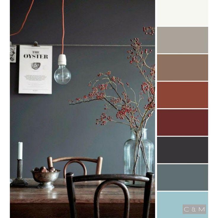 Farbkombinationen Blau Grau: Rot, Braun, Grau, Blau, Weiß