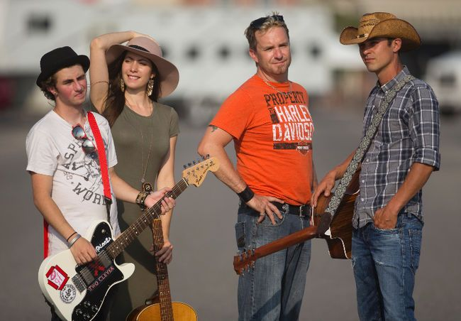 Tommy Brier, Jessica Allossery, Scott Bollert and Shawn Cowan are among local performers in the I Love Local beer garden at Western Fair. (MIKE HENSEN, The London Free Press)