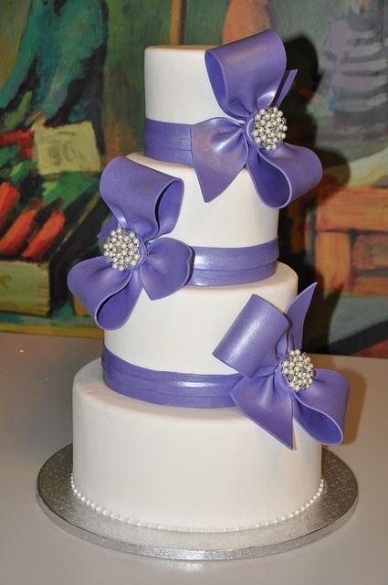 Huge Purple Bow Cake by Designer Cakes By April, via Flickr