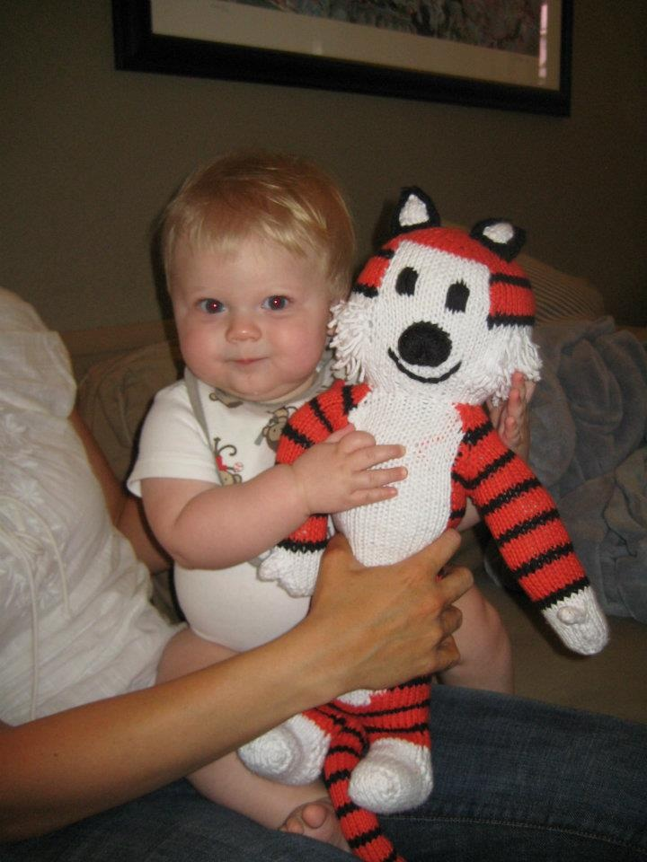 This is my Grand-nephew Calvin with his Hobbes :-)