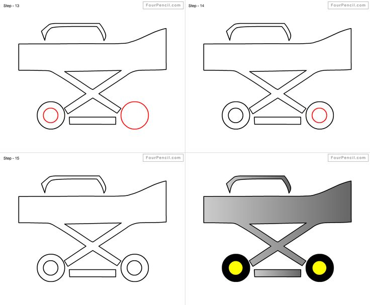 How to draw Stretcher for kids step by step drawing
