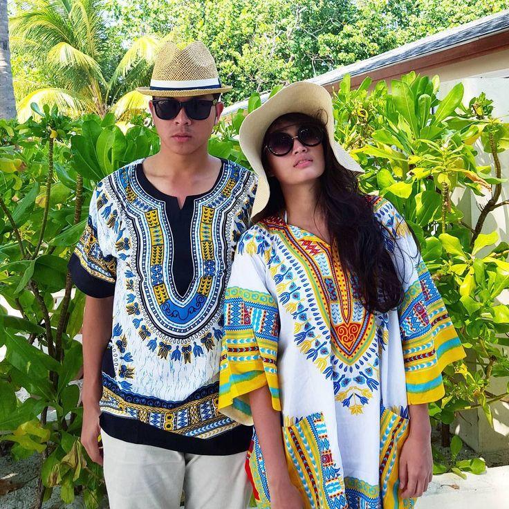 «Like girlfriend, like bestfriend!  #maldives #maldivian #dashiki»