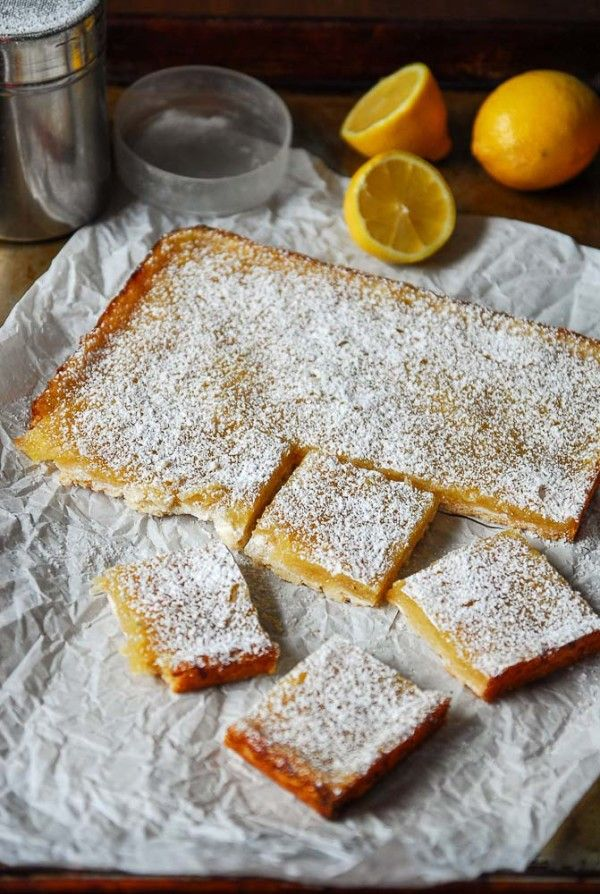 Vegan lemon bars are tart, sweet and a perfect vegan dessert, using all whole ingredients and no tofu and no cashews!