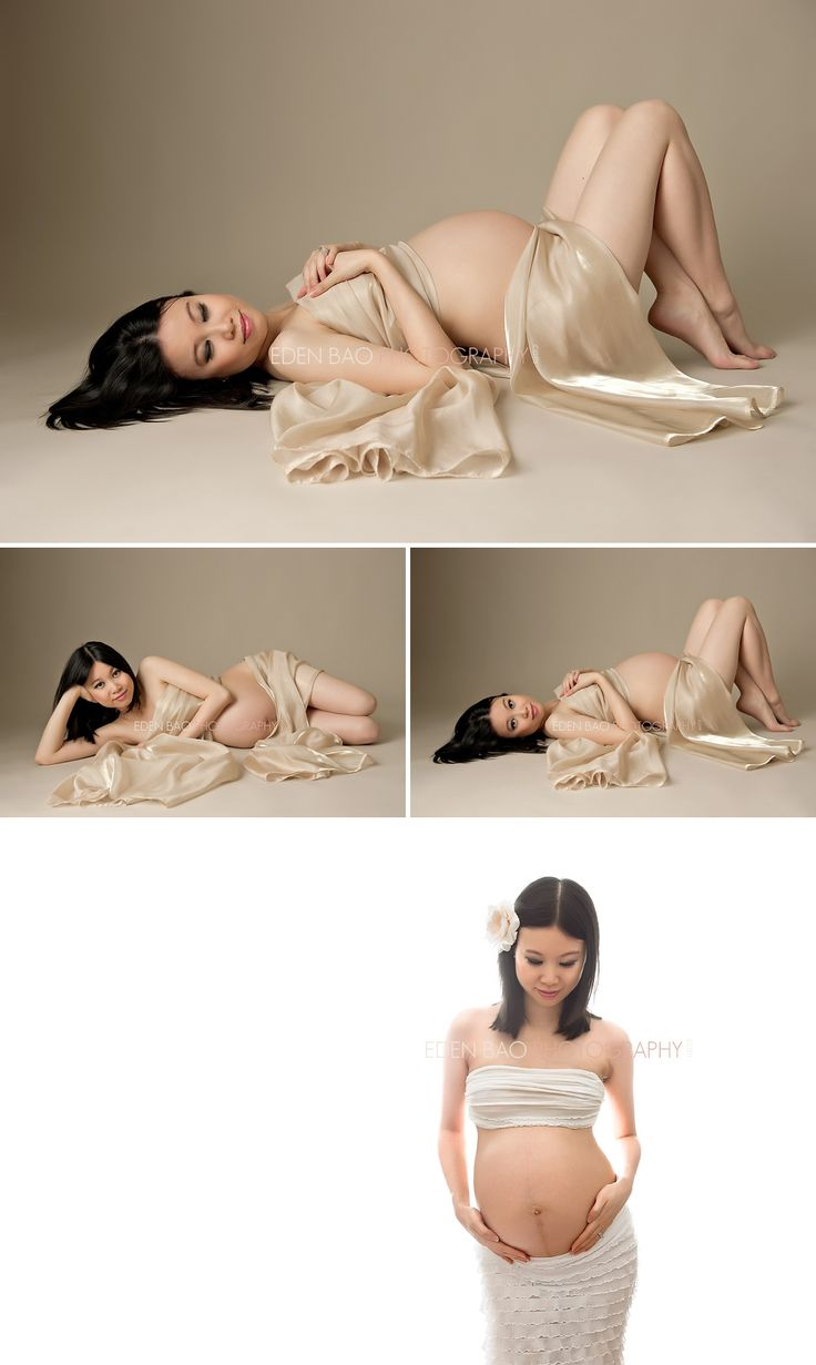 Vancouver BC Maternity Photographer Eden Bao | Corina gold chameuse wrap white backdrop