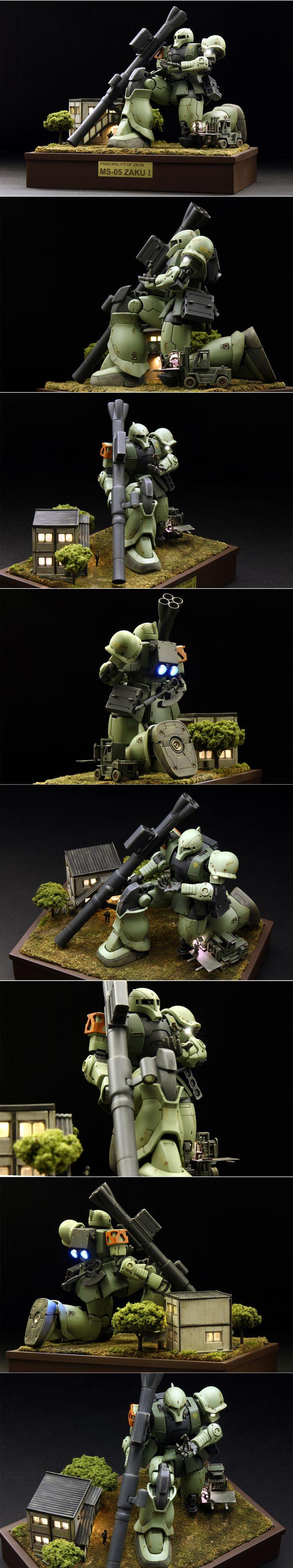 HG 1/144 THE ORIGIN ザクI 塗装済完成品 オリジン - ヤフオク!