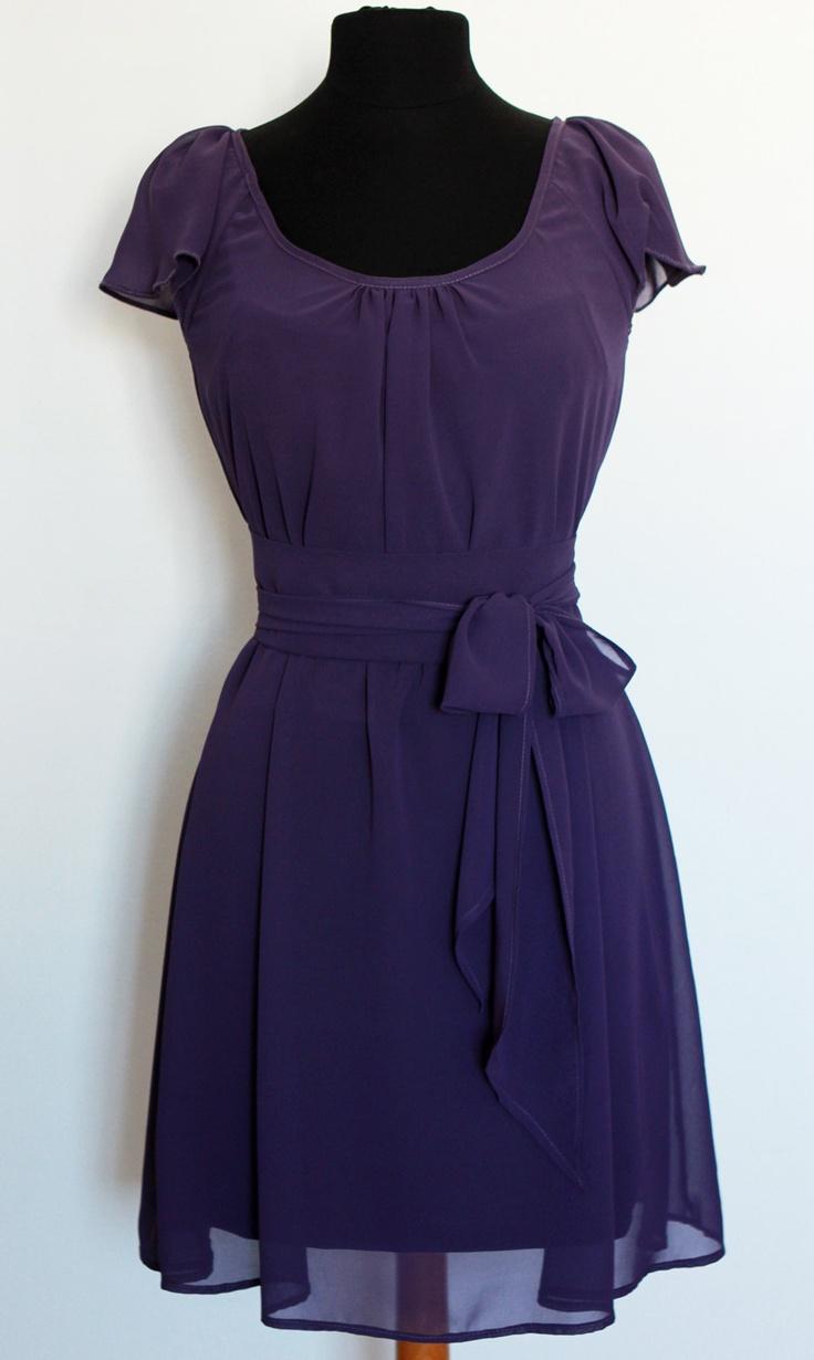 Bridesmaid Dress, Wedding Guest Dress, Purple Chiffon Dress, Flowergirl Dress Ready to wear/ Custom Dress. $102.00, via Etsy.
