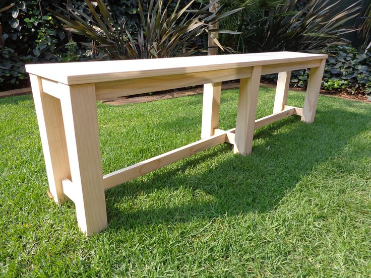 Kitchen table benches from South African Pine for Riana - unfinished