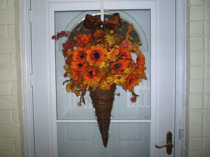 MY fall door decoration   halloween fall pictures
