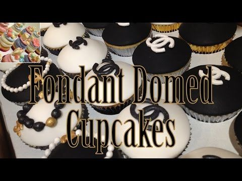 How to Make Domed Fondant Cupcake Tops + Bonus Toppers - YouTube