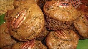 Muffins met amandelmeel en pecannoten