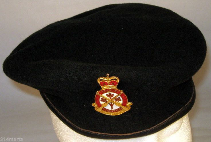 Canada Canadian Armed Forces Army Infantry Beret with Pin Badge Insignia