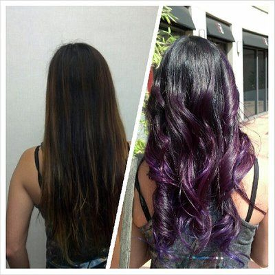 purple ombre, ombre, purple hair, Asian hair   Yelp