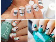 Стильные геометрические рисунки на ногтях (40 фото)