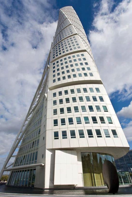 CONTEMPORARY POST-MODERNIST ARCHITECTURE The Turning Torso' in the city of Malmo, in the south of Sweden, from Iryna