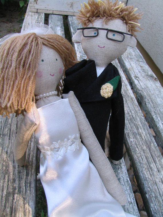 Wedding gift rag dolls custom personalized rag doll by apacukababa https://www.facebook.com/ApaCukababa