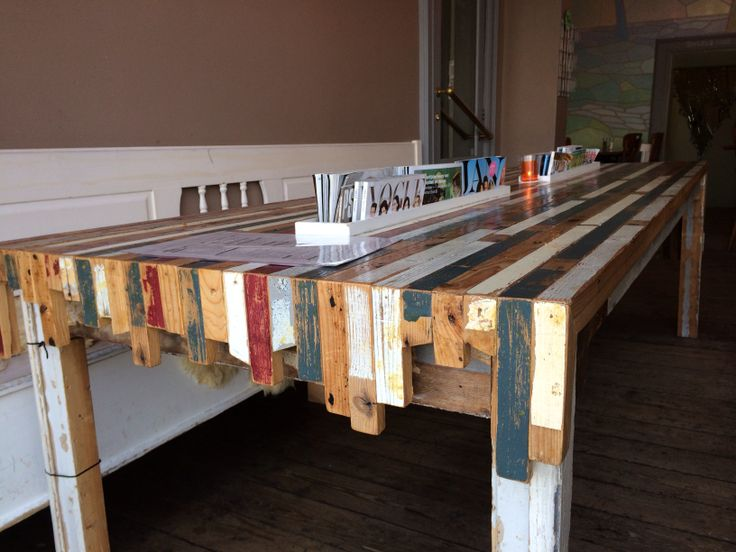 Newspaper cafe table