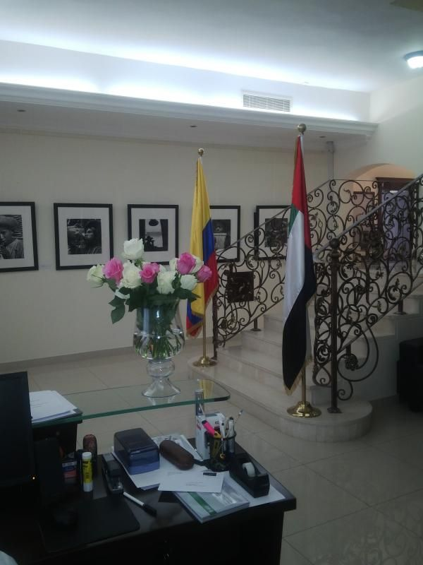 SANTA MARIAS FLOWERS AT COLOMBIA EMBASSY IN ABU DHABI