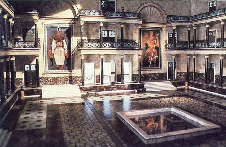 The Great Library and Mouseion, Alexandria, Egypt. Considered by many to be the world's first 'universal library', it was destroyed in 48BC by Julius Caesar.