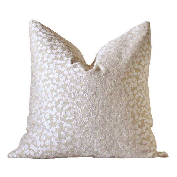 Ready to Ship 22 Double Sided Modern Sand Neutral Pillow Cover Beige Off White Geometric Tan featuring polyvore, home, home decor, throw pillows, decorative pillows, home & living, home décor, silver, zippered throw pillows, geometric throw pillows, modern home decor, cream colored throw pillows and neutral home decor