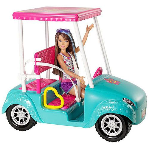 Barbie Sisters Golf Cart with Skipper Doll
