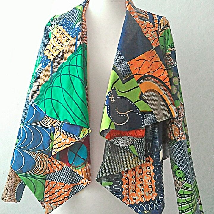 Ankara green african print jacket Now available custom made by Sosome in any size