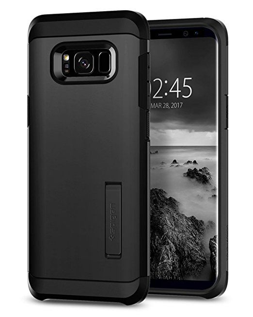 Galaxy S8 Plus Case, Spigen Tough Armor with Kickstand - Extreme Heavy Duty Protection and Air Cushion Technology for Samsung Galaxy S8 Plus (2017) - Gunmetal: Amazon.ca: Cell Phones & Accessories