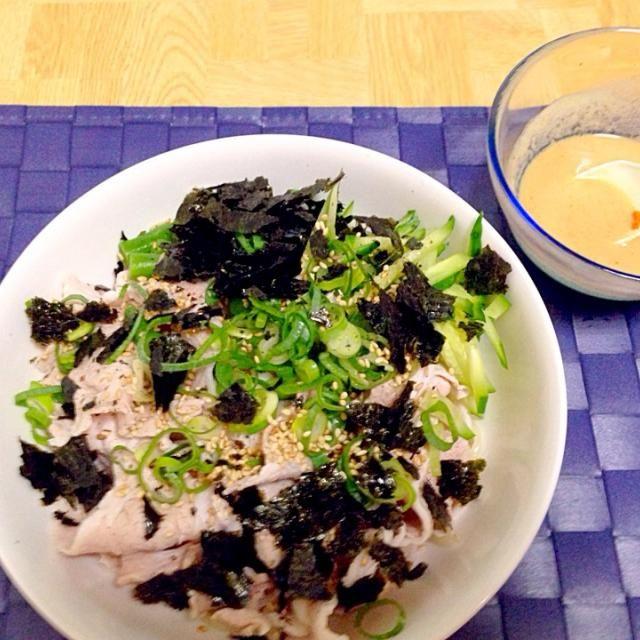 神奈川高座豚しゃぶで - 48件のもぐもぐ - 稲庭うどん冷しゃぶサラダ・自家製ごまだれで by taroumasaydyZ