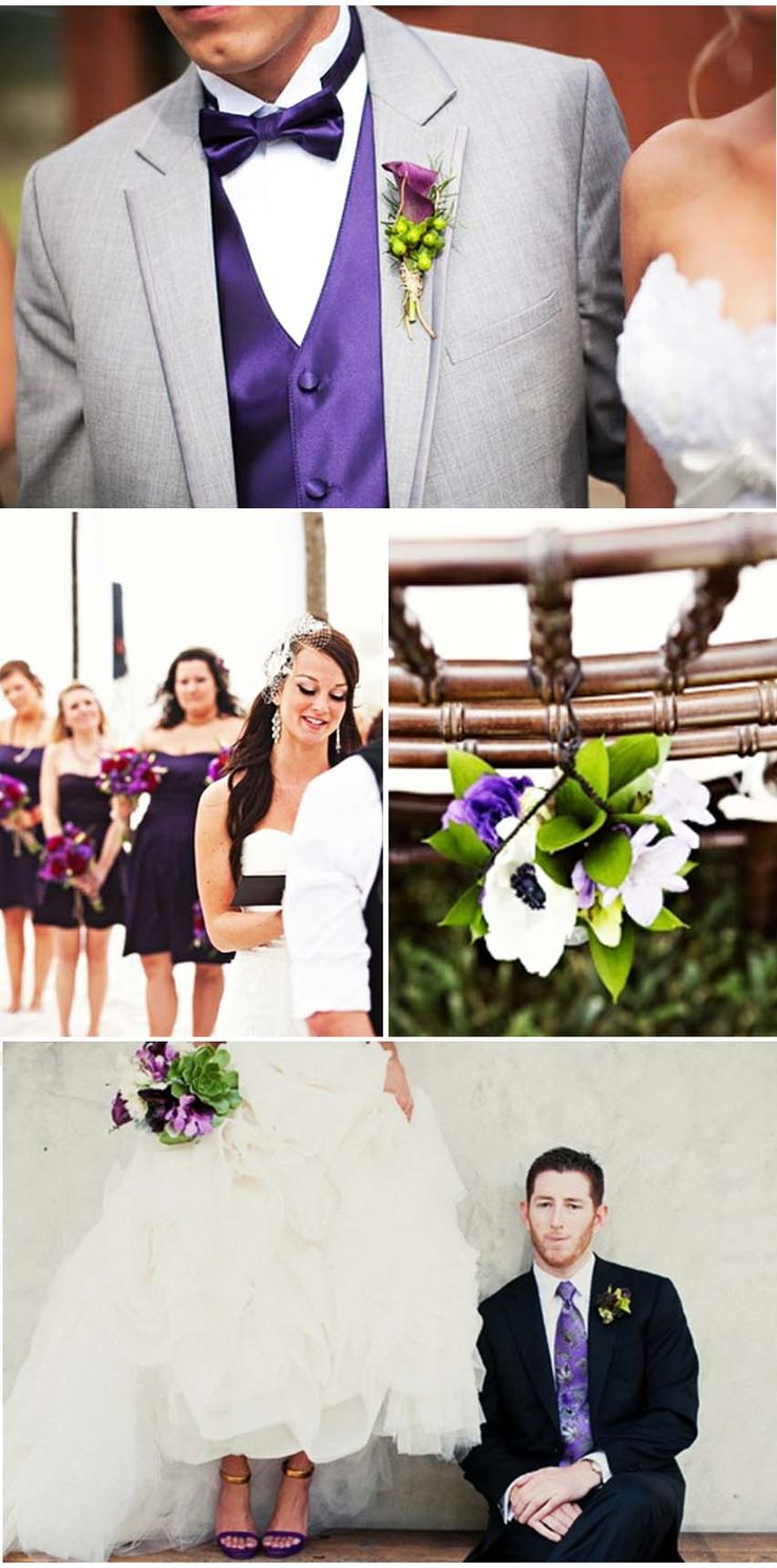 Mariage prunes/ Mariage violet/ Mariage aubergines/ Mariage coloré
