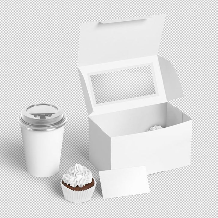 Download Free Cafe And Cupcake Logo Package Box Mockup Free Package Mockups Cupcake Logo Box Mockup Bakery Mockup