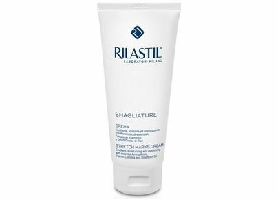 Rilastil Intensive Stretch Mark Cream prevents and reduces the appearance of stretch marks on the body by restoring skin elasticity and increasing skin flexibility and softness. Also it improves the appearance of skin scars. #1 best selling body product.