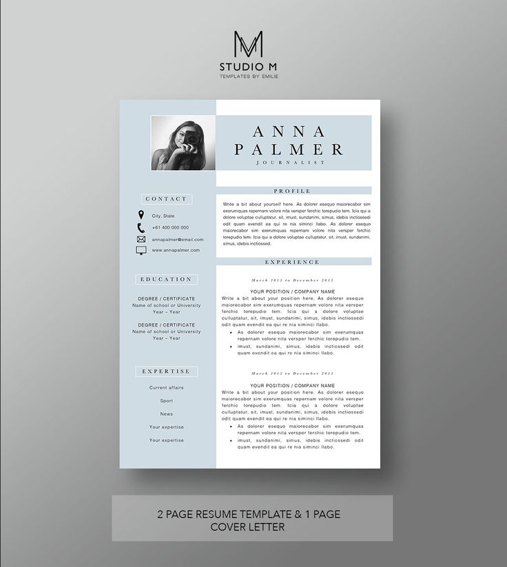 Professional resume and cover letter template 20