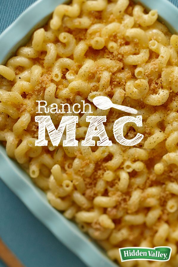 """""""Just when you thought macaroni and cheese couldn't get any better, we added the zesty flavor of ranch! Perfect for cold winter weather, but a kid-pleaser all year round, this new take on everyone's favorite pasta dish is seasoned with the perfect blend of herbs and spices."""""""