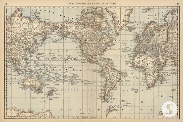 Map Of The World Wall Covering...maybe Tone Down The