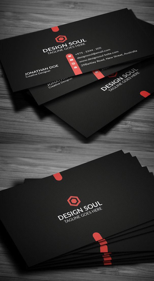 Dark Business Card Design #branding #businesscardtemplates #businesscards #visitingcard