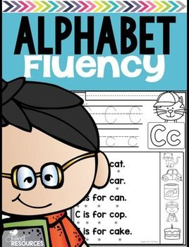 Alphabet Fluency26 fun and educational alphabet fluency worksheets to give your little learner an easy introduction to the skill of reading. Touch dots and picture supports have been included to assist your students in independent reading.