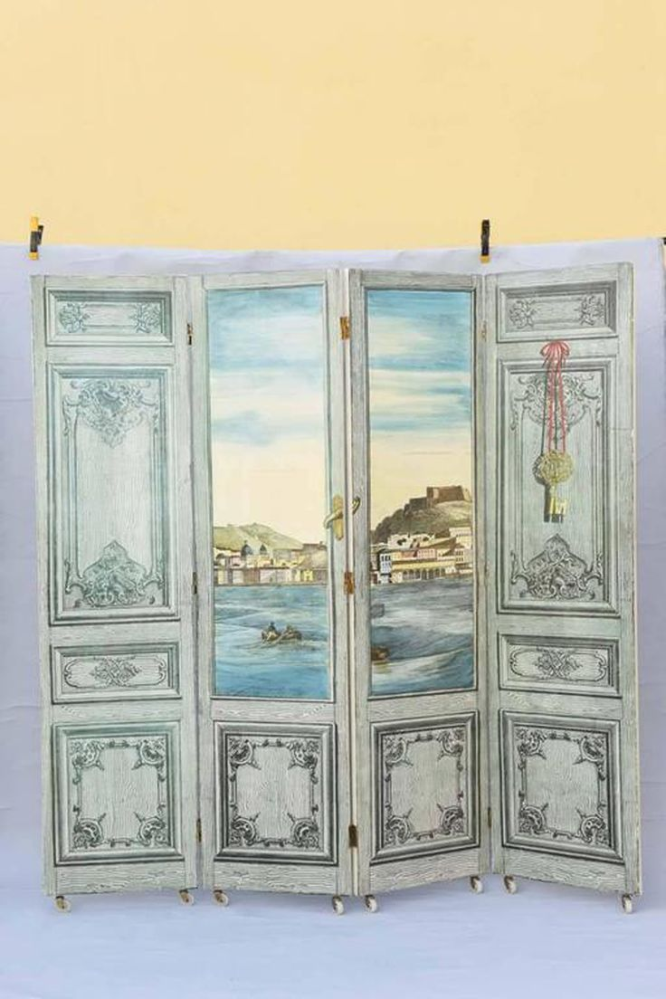 folding screen room divider by piero fornasetti the front