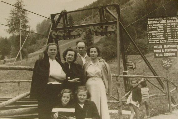 Vintage Snapshot Photo  Family at Ponte di Legno Italy by LoosLoft, $3.50