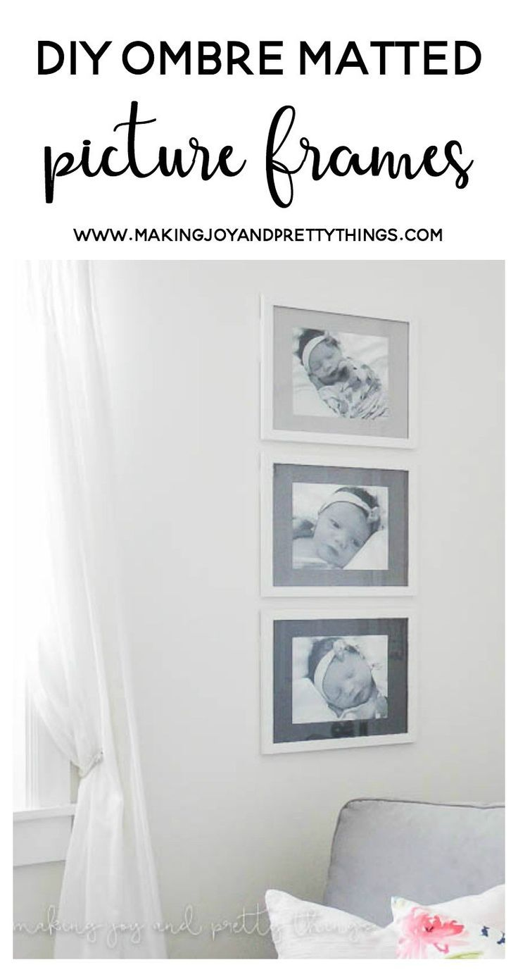 DIY Ombre Matted Picture Frames - | Art | Pinterest | DIY, DIY Home ...