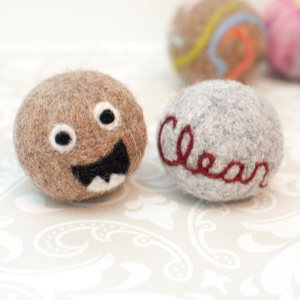 how to make wool dryer balls from wool batting