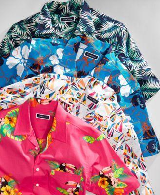 Club Room Men's Sailboat-Print Shirt, Created for Macy's – White S