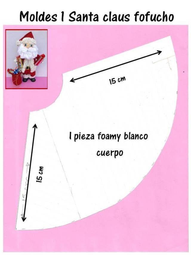 DIY Papá Noel fofucho con moldes - Patrones gratis 40382fdfd3e