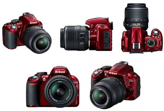 Hubby's birthday present.  Of course OU red....Nikon D3100